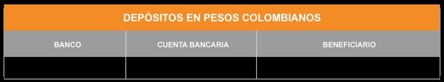 Cuentas Bancarias Fibras Ópticas de Colombia